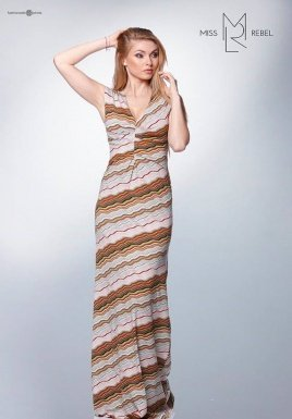 Milva ruha cikk-cakk mintás