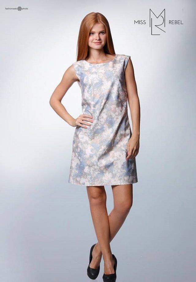 Szitakötő ruha mintás