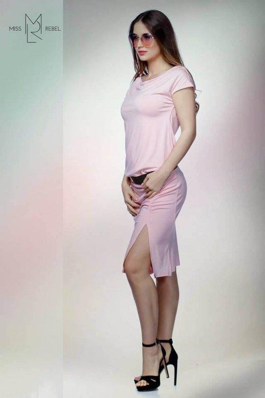 Avokadó ruha midi Rózsa