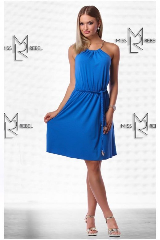 MR 154-1 Adri midi ruha k.kék