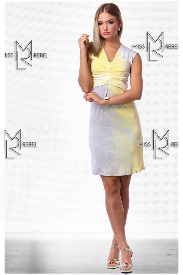 0fbf7d15fd MILVA Ruha sárga mintás - Miss Rebel
