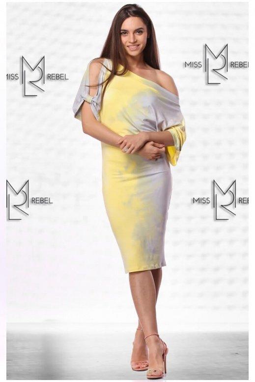 MR020-4 Donna batikolt sárga S,M,L,XL