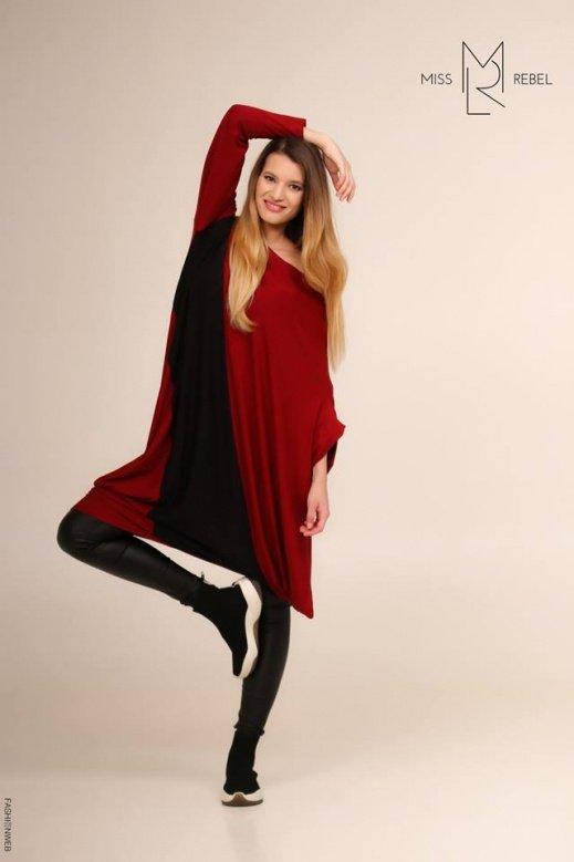 MR089-4 Zizi ruha Bordó-fekete 12990