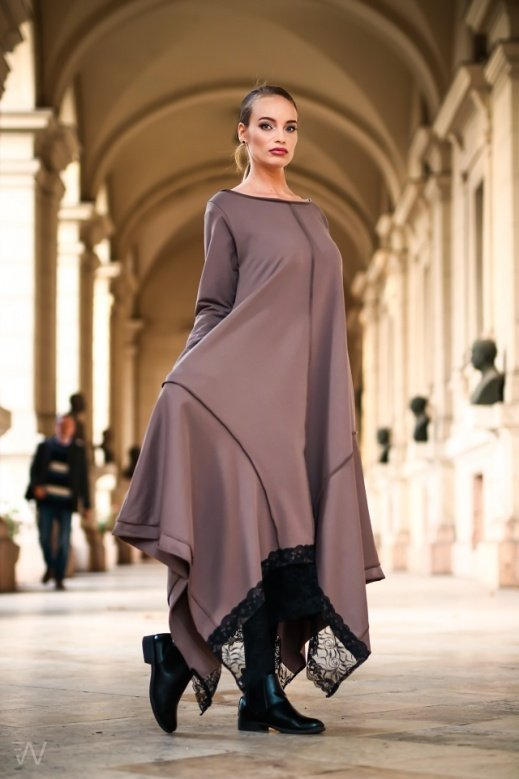 19036 Kriszta ruha Drapp S-M,L-XL,2XL-3XL