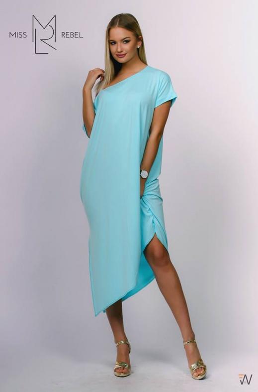 Irisz oldalt húzott ruha világoskék (Ildi varroda)One size 3590, 6990