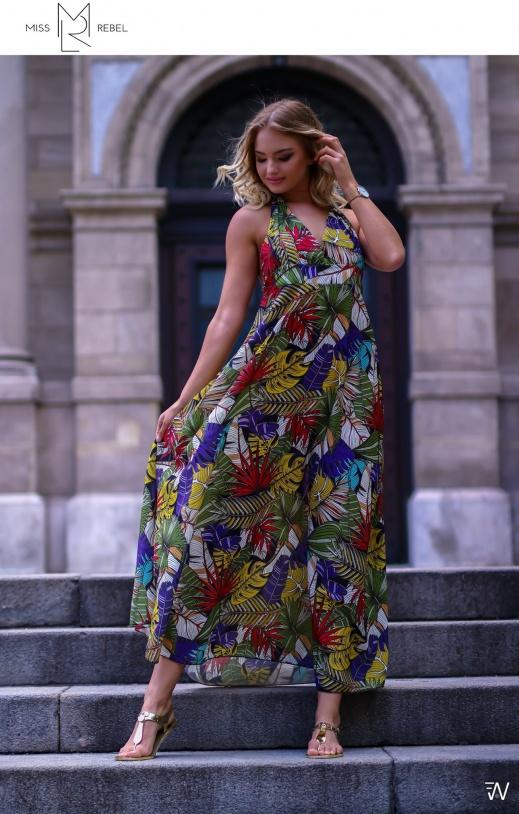 1-025 Livorno ruha zöld mintás One Size