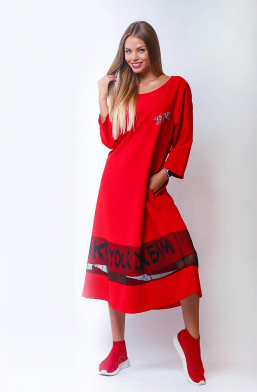 007 Lulu ruha piros