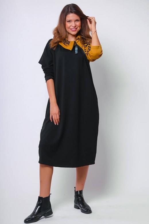 017 Helén ruha must-fekete XXL
